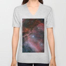 Carina Nebula Space Art Unisex V-Neck