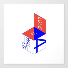 f(x) — 4 Walls Box (white) Canvas Print