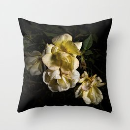 Wilted flowers Throw Pillow