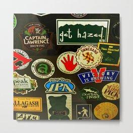 beer sticker party Metal Print