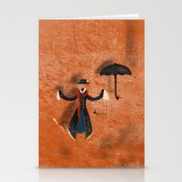 mary poppins Stationery Cards featuring Mary Poppins by fedralita