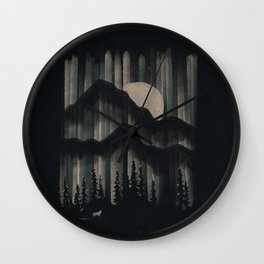 A Wolf in the Night... Wall Clock