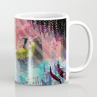 unicorns Mugs featuring Unicorns by David Pavon