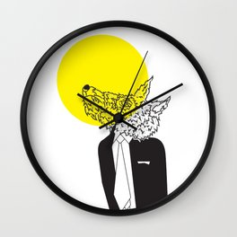 Wolf in Men's Clothing 2 Wall Clock