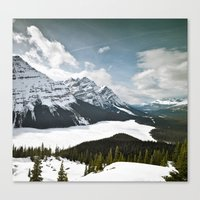 canada Canvas Prints featuring CAnAdA by Damien Saillet