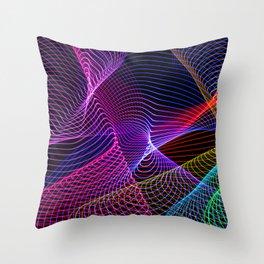 Rainbow Tornados Light Painting Throw Pillow