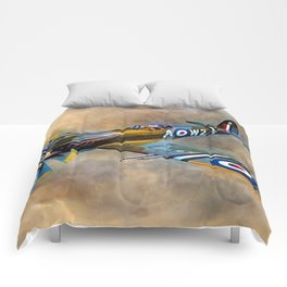 Spitfire Dawn Flight Comforters