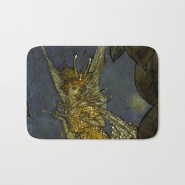 """""""The Fairy Queen"""" Fairy Tale Art by Edmund Dulac Bath Mat"""