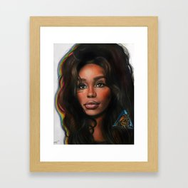 SZA and the Butterfly Framed Art Print