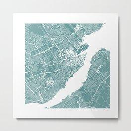 CITY OF QUEBEC (GREY) Metal Print
