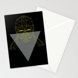 polygon head Stationery Cards