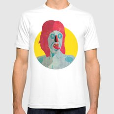 Tongue 02 MEDIUM Mens Fitted Tee White