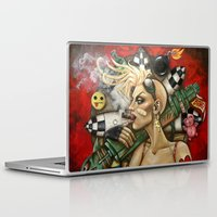 tank girl Laptop & iPad Skins featuring Tank Girl Nouveau by Megan Mars