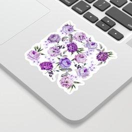 Elegant Girly Violet Lilac Purple Flowers Sticker