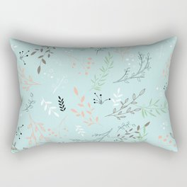 Light And Lovely Spring Floral Garden Pattern Rectangular Pillow