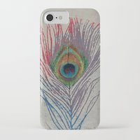 peacock feather iPhone & iPod Cases featuring Peacock Feather by Michael Creese