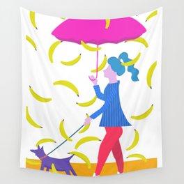 Raining Bananas Wall Tapestry