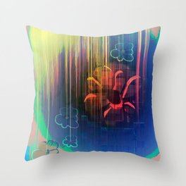 Floral Space Throw Pillow
