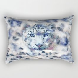 Snow Leopard Rectangular Pillow