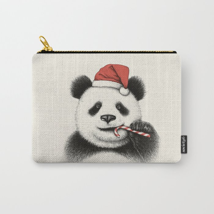 Festive Panda Carry-All Pouch