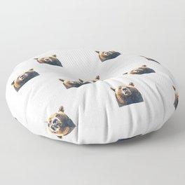 Bear portrait Floor Pillow