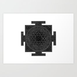 Space Sri Yantra Mandala Art Print