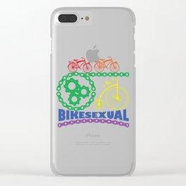 Gay Pride Parade LGBT Lesbian Gay Bi Trans Queer Pan Clear iPhone Case