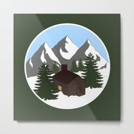 Cozy Cottage Metal Print