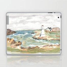 Maritime Lighthouse Seascape Watercolor Laptop & iPad Skin