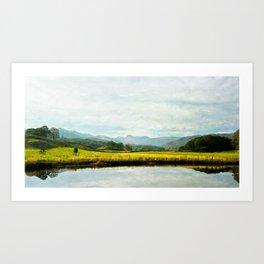 Textured Fine Art lake District Landscape  Art Print