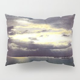 Vintage Sunset Waters : St Lawrence River 1901 Pillow Sham