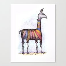llamas get cold Canvas Print