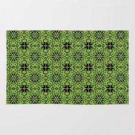 Greenery Star Geometric Rug