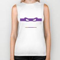 ninja turtles Biker Tanks featuring Purple Ninja Turtles Donatello by &joy