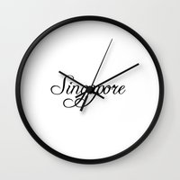 singapore Wall Clocks featuring Singapore by Blocks & Boroughs