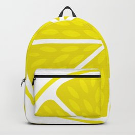 Fresh juicy lime- Lemon cut sliced section Backpack