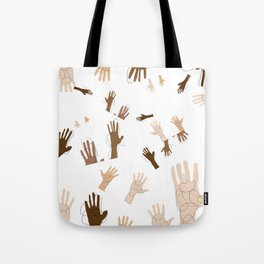 Abstract Hand Art Tote Bag