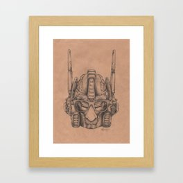 Robots in Disguise: Optimus Framed Art Print