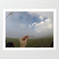 Analog Cloud Label  Art Print