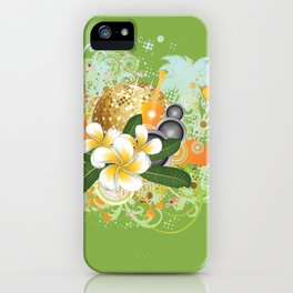 Beach party design iPhone Case