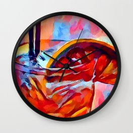Cocktail 2 Watercolor Wall Clock