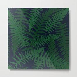 Emerald Ferns Metal Print