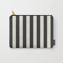 Love stripes (black & cream) Carry-All Pouch
