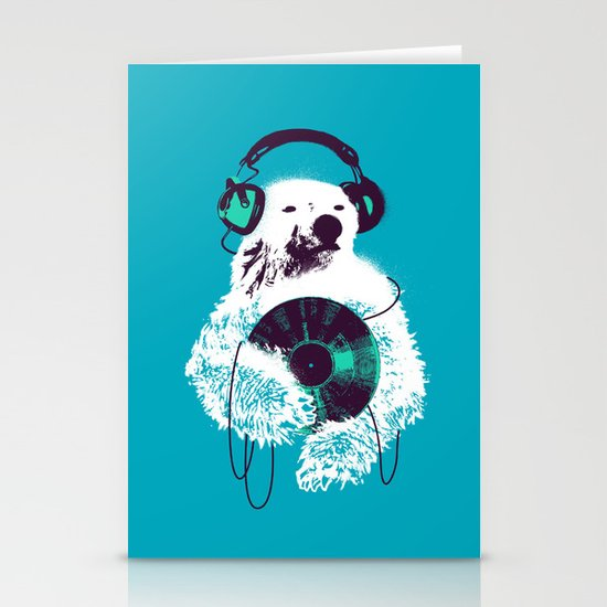 Record Bear Stationery Cards