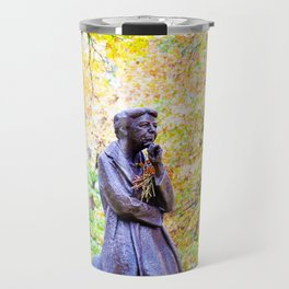 Eleanor Roosevelt Statue in Riverside Park Travel Mug