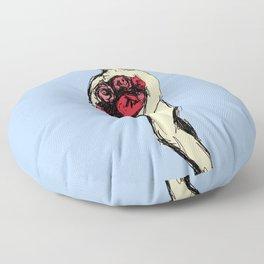 Pauline with Flowers Floor Pillow
