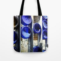 glass Tote Bags featuring Glass by Blue Lightning Creative