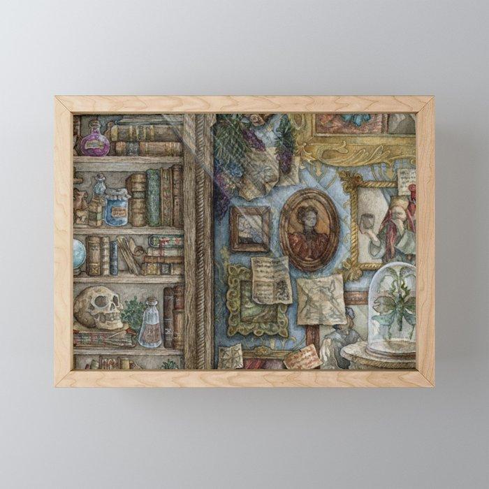 A Wizard's Study Framed Mini Art Print