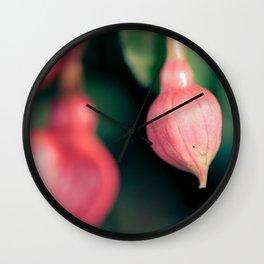 Pink bulbs Wall Clock