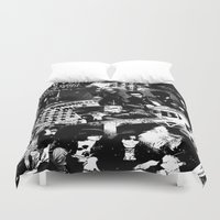 punk Duvet Covers featuring Punk by HEADBANGPARTY